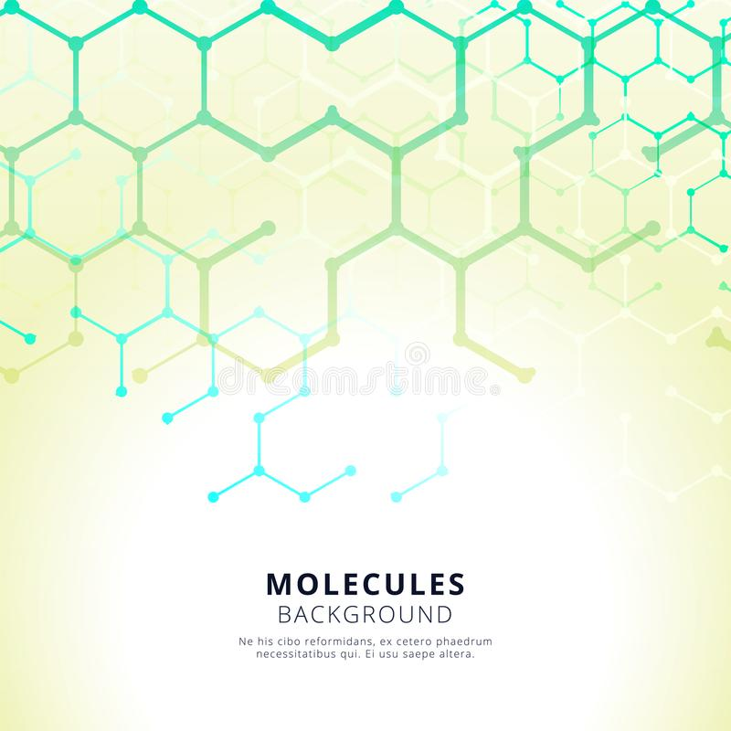 Abstracte moderne hexagonale vormen van molecules vector illustratie