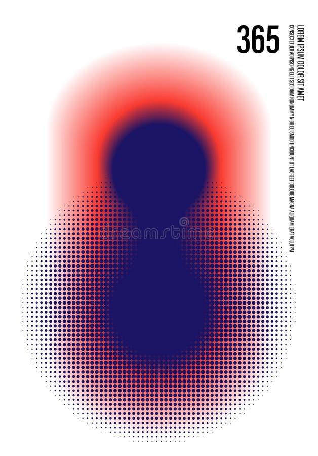 Abstracte moderne kunstachtergrond decoratief met kleurrijke halftone stock fotografie