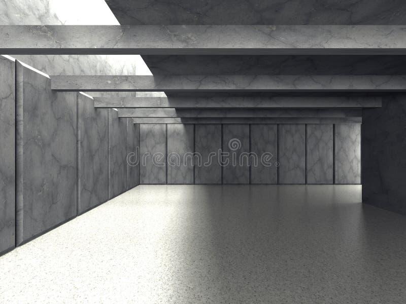 Abstracte moderne lege ruimte Concrete muren Architectuurbackgro stock illustratie