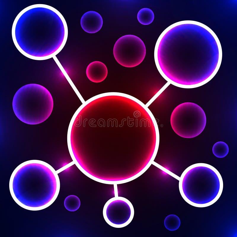 Abstracte molecule Gestileerd atoom Wetenschappelijk Onderzoek abstracte achtergrond Vector beeld vector illustratie