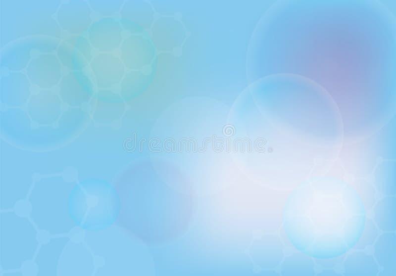 Abstracte molecules medische achtergrond stock illustratie