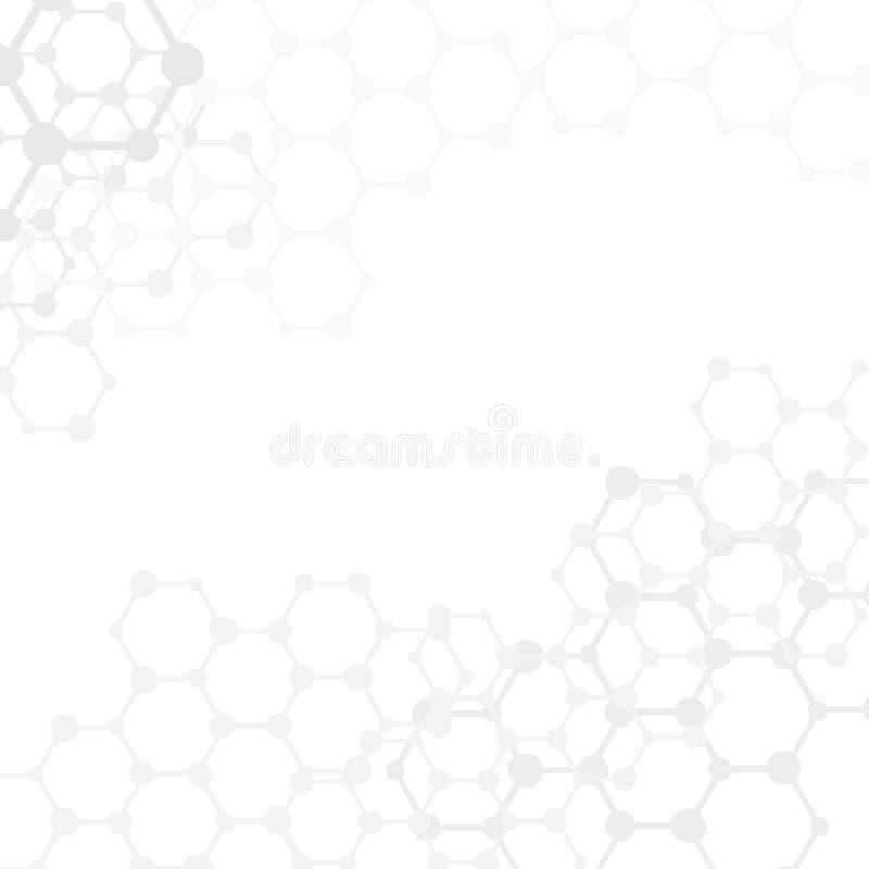Abstracte molecules medische achtergrond met exemplaarruimte () royalty-vrije illustratie