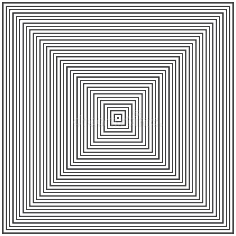 Abstracte monochtomeachtergrond met vierkanten Vector illustratie vector illustratie