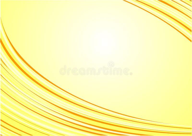 Abstracte mooie gele golven background.sunny.s royalty-vrije illustratie