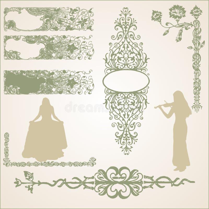 Abstracte mooie middeleeuws royalty-vrije stock afbeeldingen