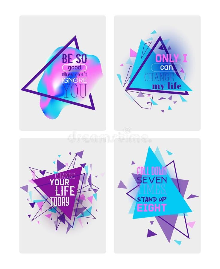 Abstracte motievenreeks banners, kaarten vectorillustratie Minimalisticontwerp, creatief concept geometrisch stock illustratie
