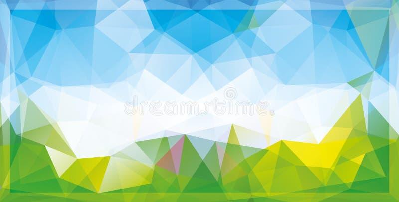 Abstracte mozaïekachtergrond stock illustratie