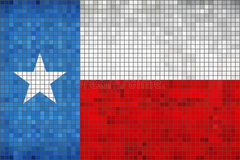 Abstracte Mozaïekvlag van Texas stock illustratie