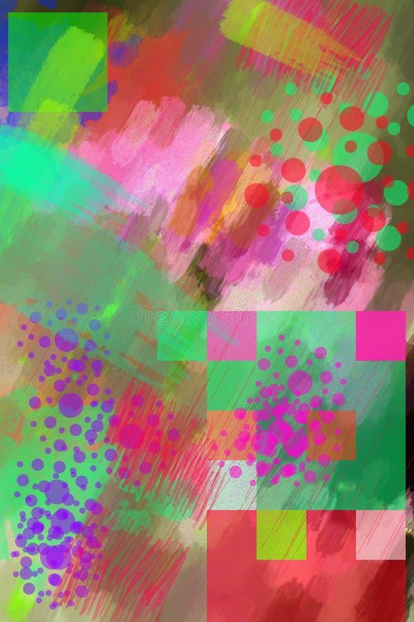 Abstracte multi-colored achtergrond royalty-vrije illustratie