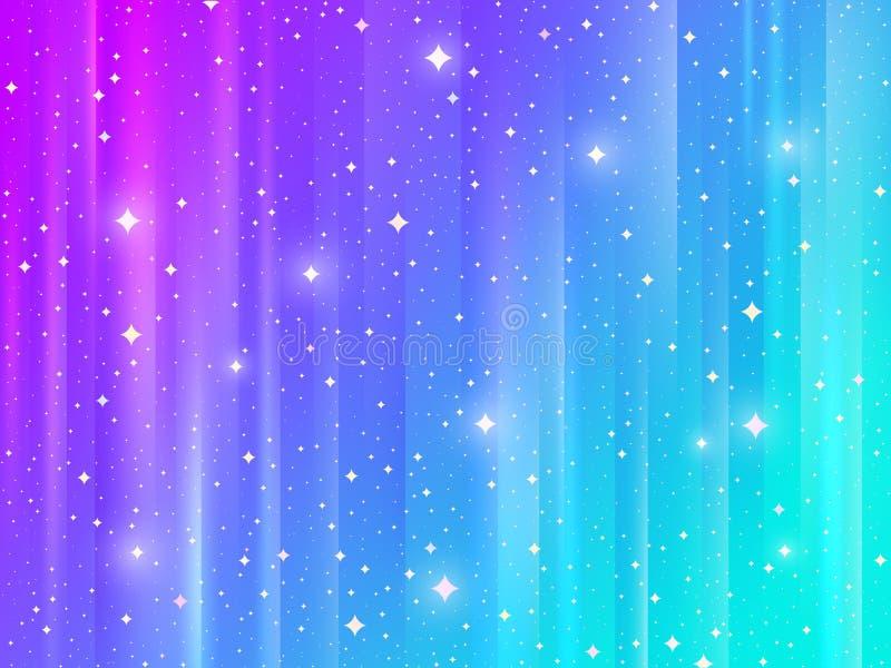 Abstracte multicolored achtergrond met glanzende sterren Vector illustratie royalty-vrije illustratie