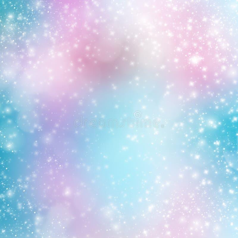 Abstracte multicolored achtergrond met onduidelijk beeld bokeh stock illustratie