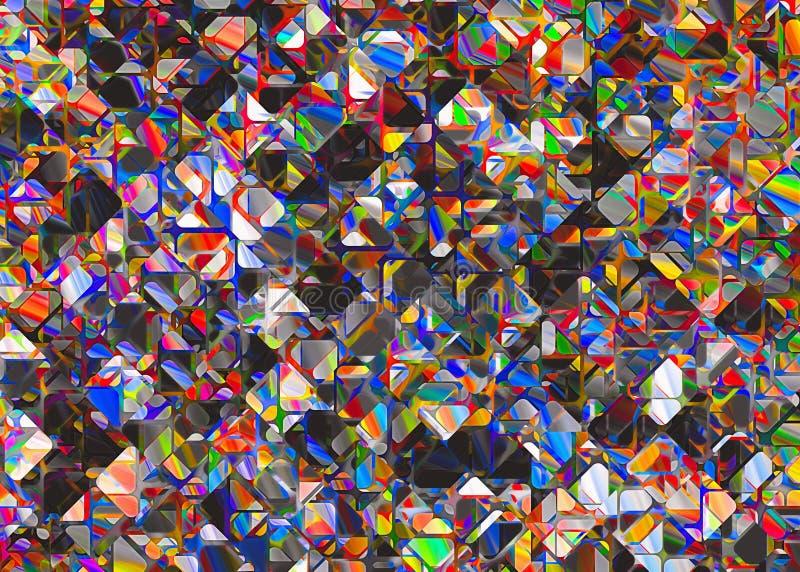 Abstracte multicolored bont achtergronden royalty-vrije illustratie