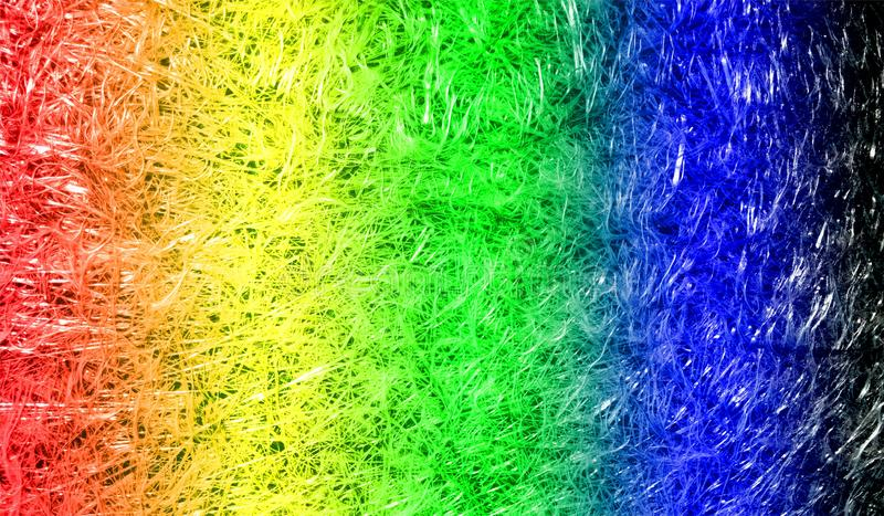 Abstracte multicolored in de schaduw gestelde glanzende metaalglittery geweven achtergrond met verlichtingsgevolgen Achtergrond,  stock fotografie