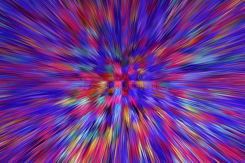 Abstracte multicolored explosie Textuur met kleurenabstracties stock illustratie