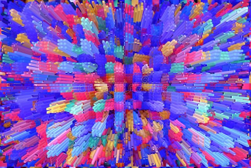 Abstracte multicolored explosie Textuur met kleurenabstracties royalty-vrije illustratie