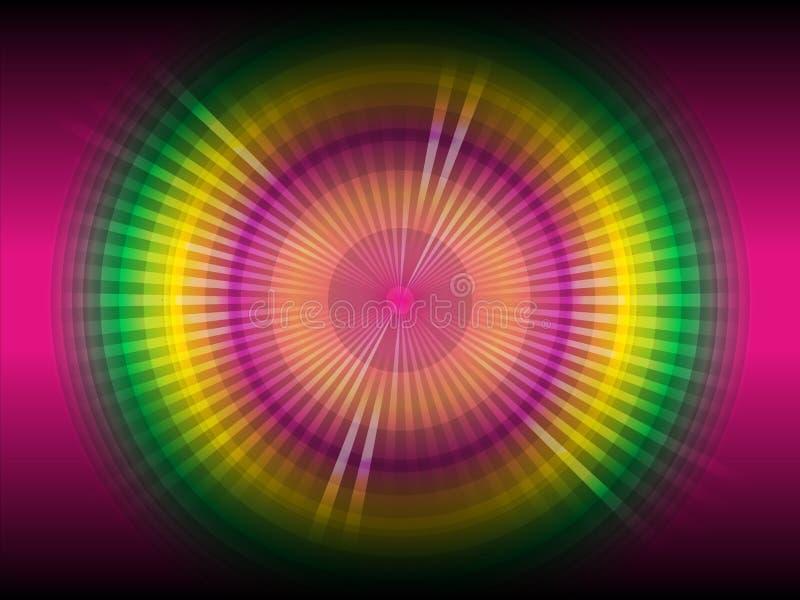 Abstracte multicolored lijn gloeiende achtergrond stock illustratie