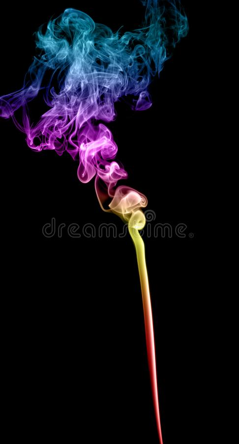 Abstracte multicolored rook stock fotografie
