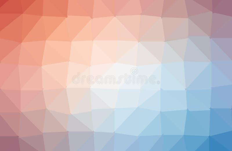Abstracte multicolored veelhoek, lage veelhoekachtergrond Transfusie van kleur Gele, purpere, groene kleuren Waterverfeffect stock illustratie