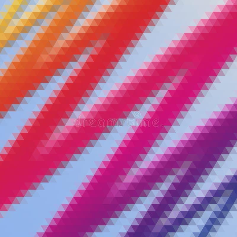 Abstracte multicolored veelhoekige mozaïekachtergrond vector illustratie