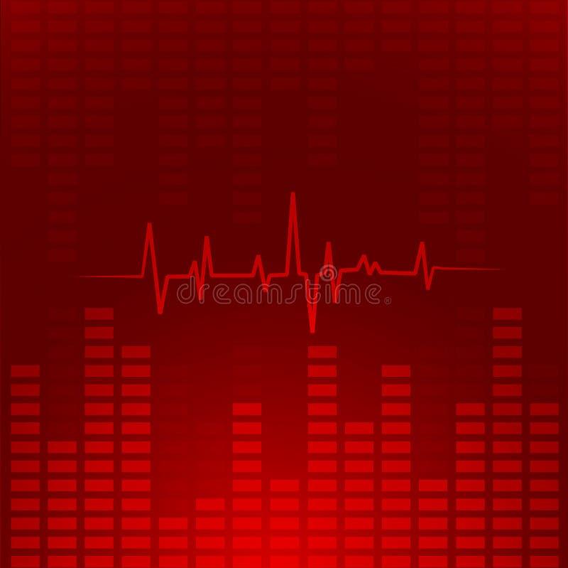 Abstracte muziekachtergrond. royalty-vrije illustratie