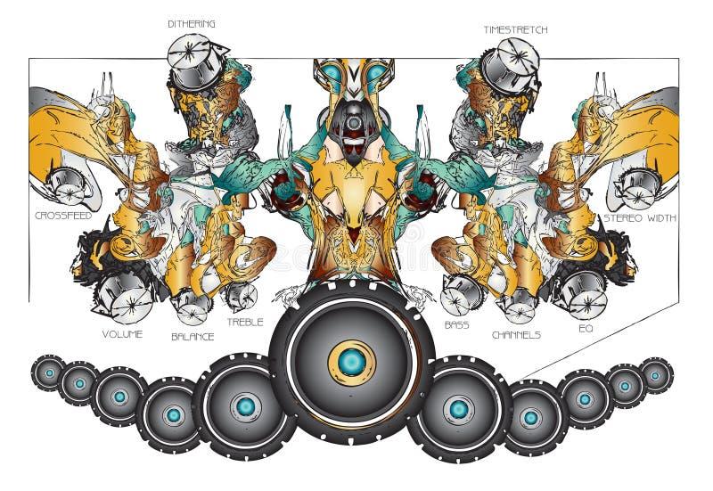 Abstracte muziekachtergrond royalty-vrije stock afbeelding