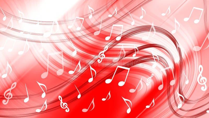 Abstracte muziekachtergrond Vector illustratie vector illustratie