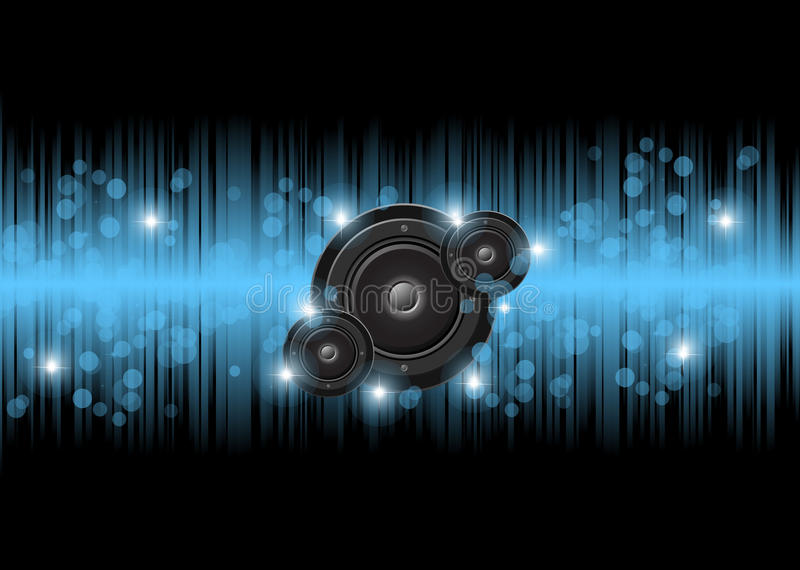 Muziek en discoachtergrond royalty-vrije illustratie
