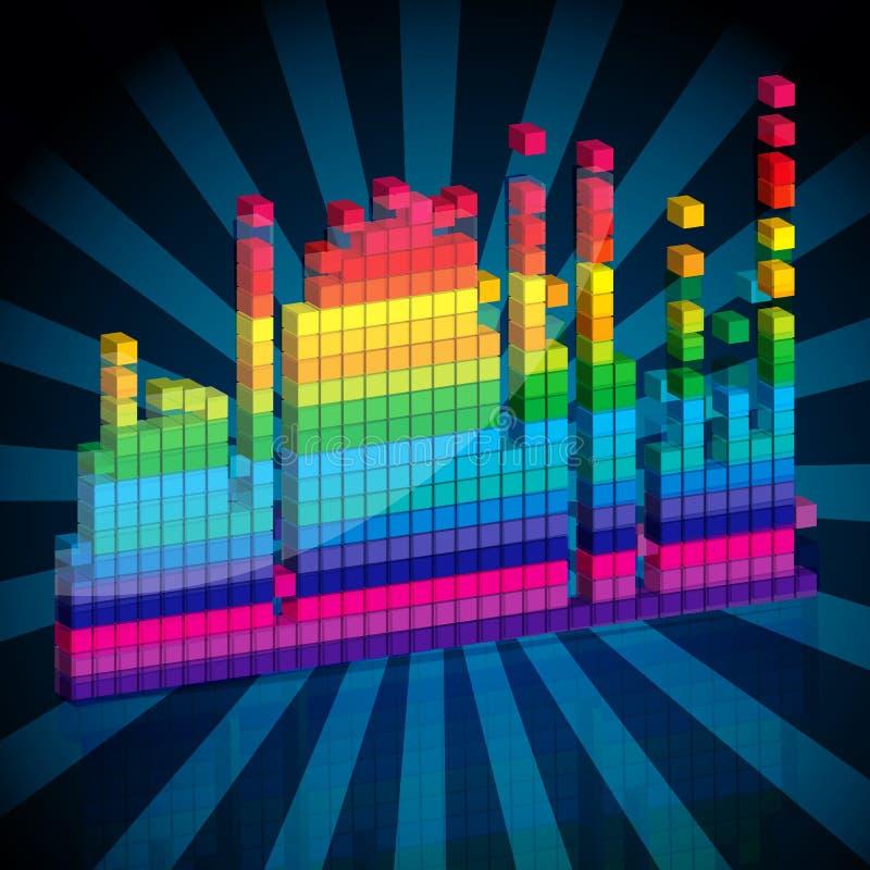 Abstracte muziekgolven vector illustratie