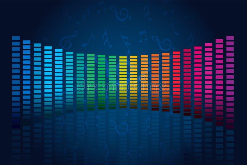 Abstracte muziekgolven stock illustratie