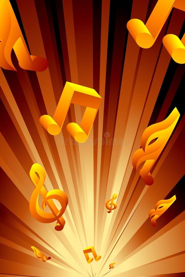 Abstracte muzikale achtergrond royalty-vrije illustratie