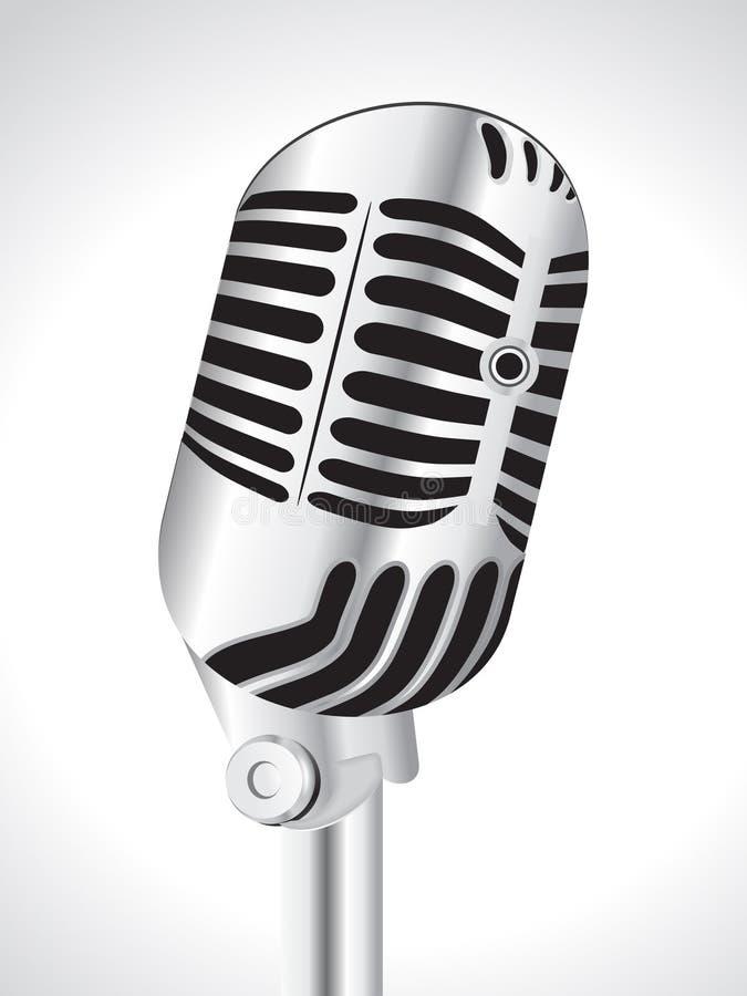 Abstracte muzikale mic stock illustratie