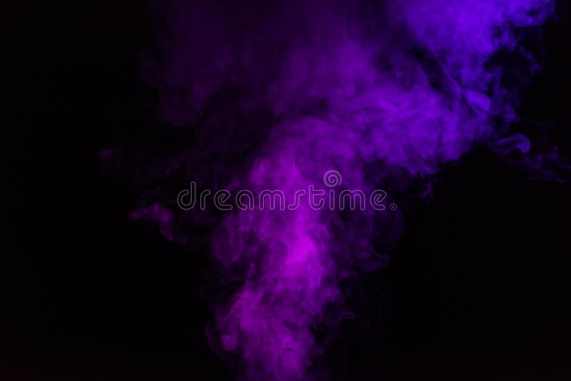 abstracte mystieke zwarte achtergrond met viooltje stock afbeelding