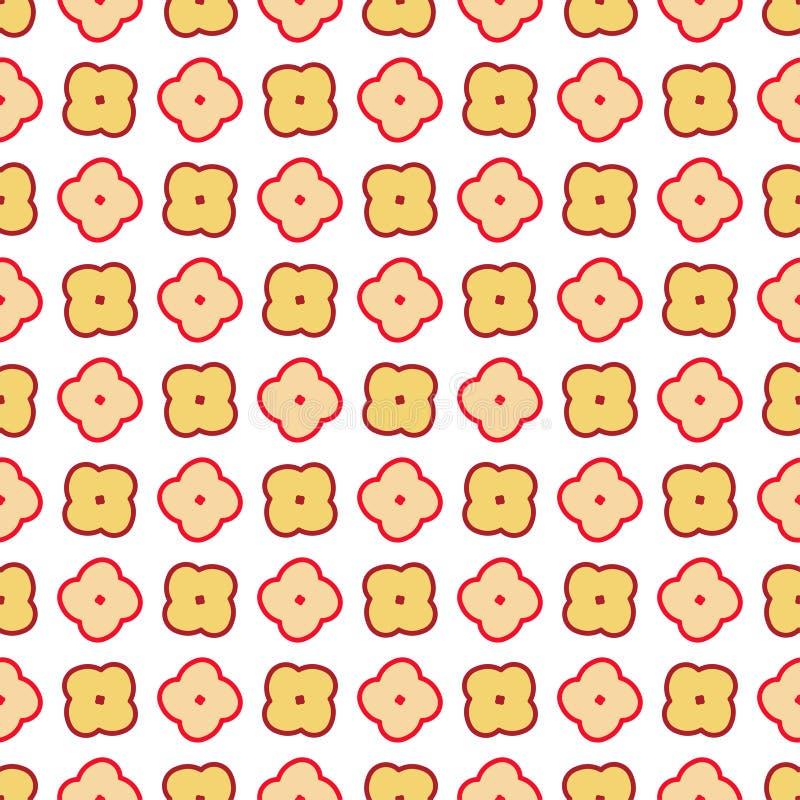 Abstracte naadloze achtergrondpatroonillustratie stock illustratie
