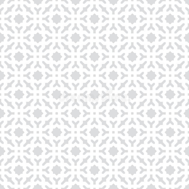 Abstracte Naadloze Decoratieve Geometrische Lichtgrijze & Witte Patroonachtergrond vector illustratie