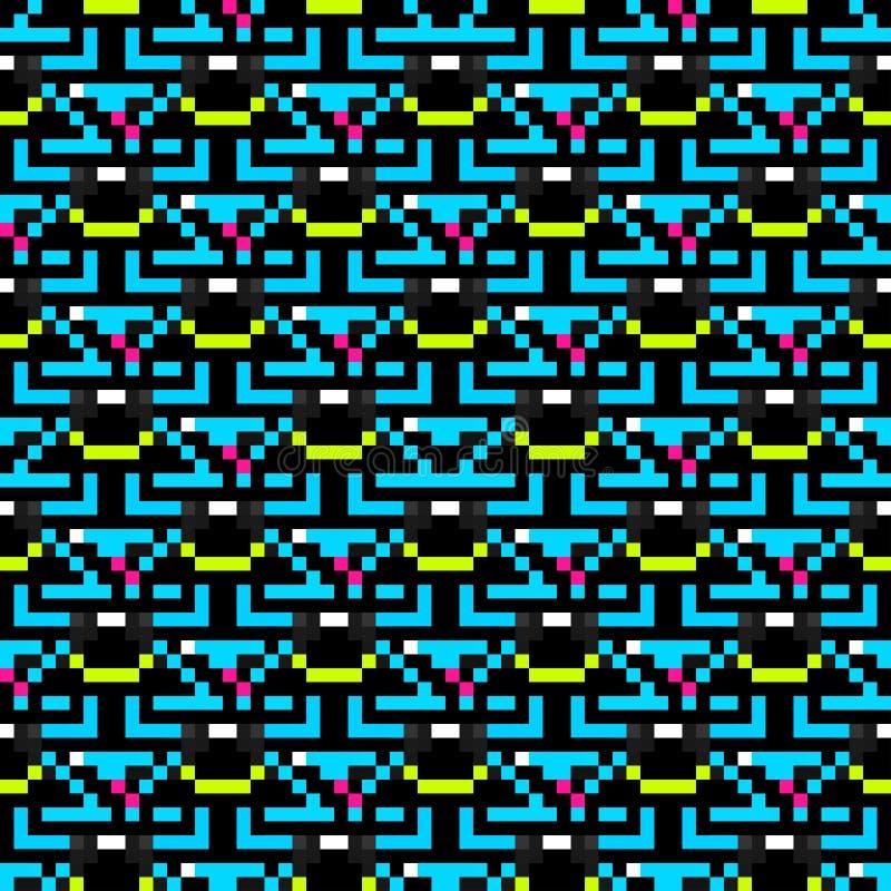 Abstracte naadloze geometrische patroon van pixel het mooie kleine veelhoeken royalty-vrije illustratie