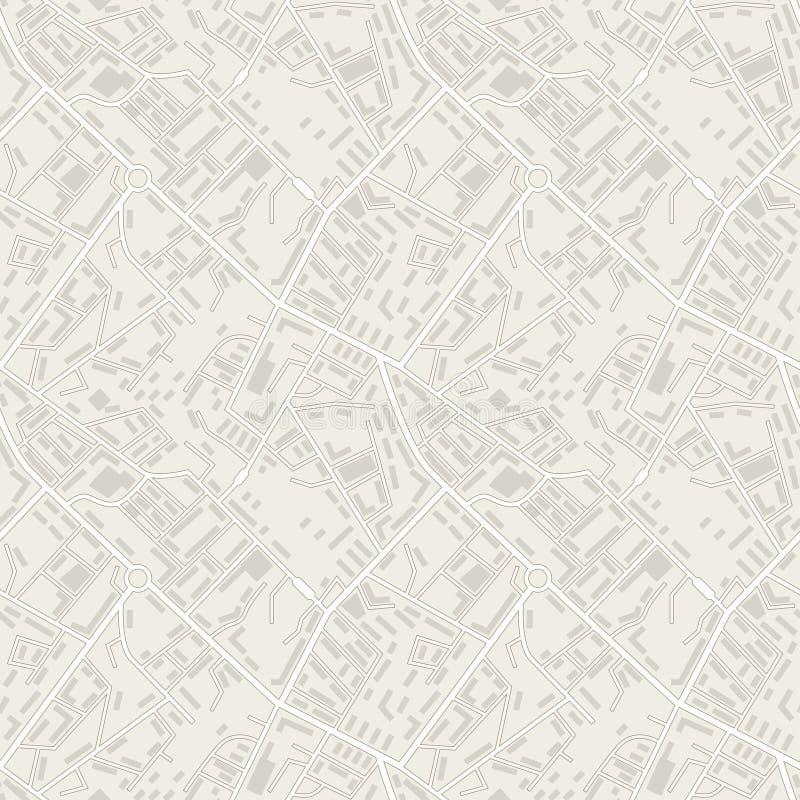Abstracte naadloze het patroonvector van de stadskaart