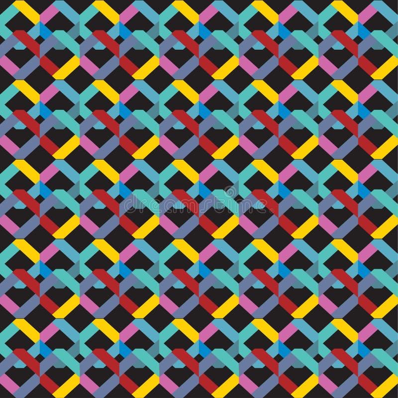 Abstracte naadloze patroon heldere gekleurde Geometrische achtergrondregenboogkleur Vector illustratie stock illustratie
