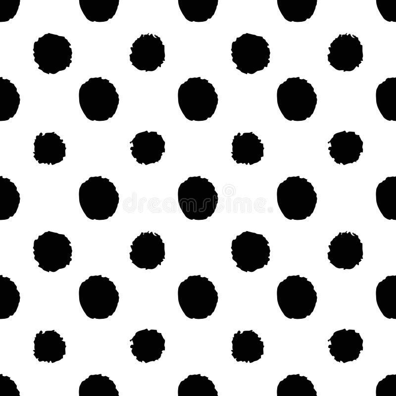 Abstracte naadloze patroon ter beschikking getrokken stijl met punten vector illustratie