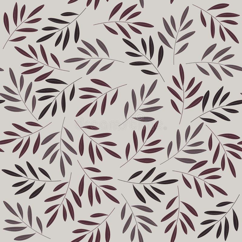 Abstracte naadloze patroon witn installaties royalty-vrije illustratie