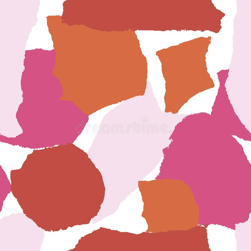 Abstracte naadloze patrooncollage Moderne creatieve stijl In textuurachtergrond Scherpe document vorm vector illustratie