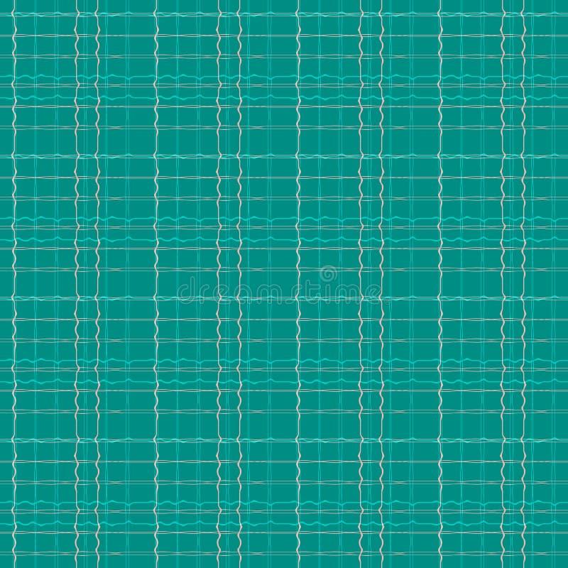 Abstracte naadloze patroonillustratie van scheefgetrokken plaidtextuur royalty-vrije illustratie