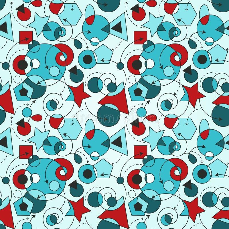 Download Abstracte Naadloze Samenstelling Vector Illustratie - Illustratie bestaande uit naadloos, affiche: 29506668