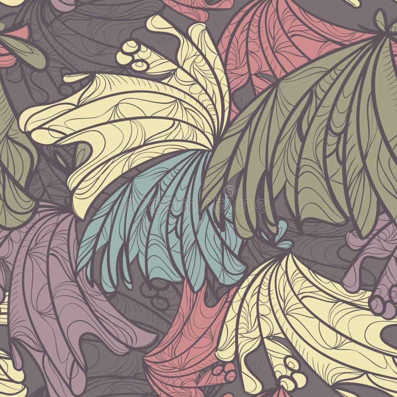 Abstracte naadloze vectorachtergrond royalty-vrije illustratie
