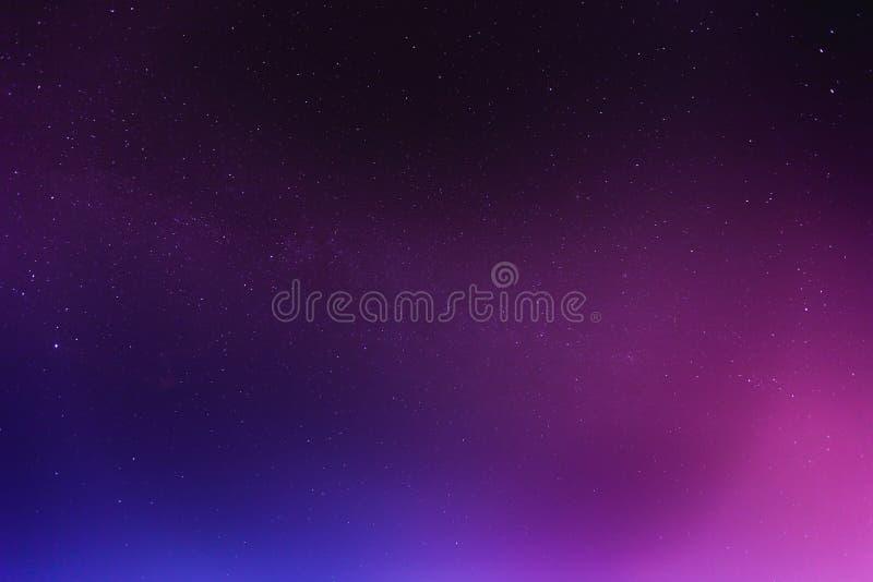Abstracte nachthemel met sterrenachtergrond royalty-vrije stock afbeelding