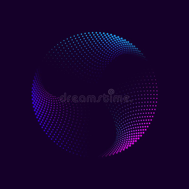 Abstracte neoncirkel royalty-vrije stock foto