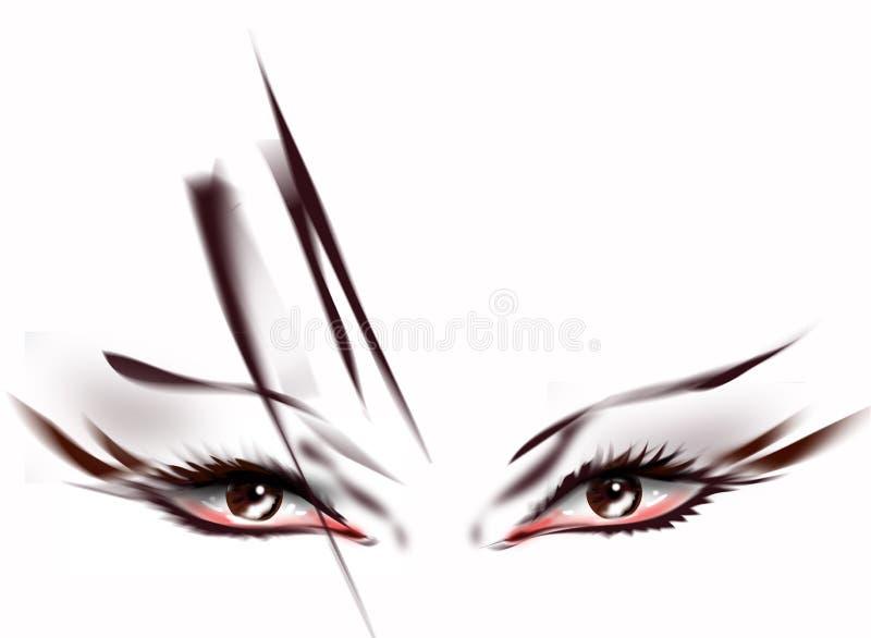 abstracte ogen royalty-vrije illustratie