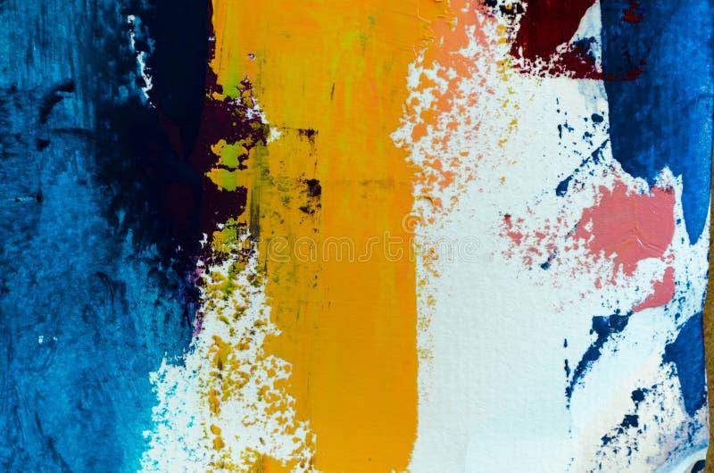 Abstracte olieverfschilderijachtergrond Olie op canvastextuur Getrokken hand royalty-vrije illustratie