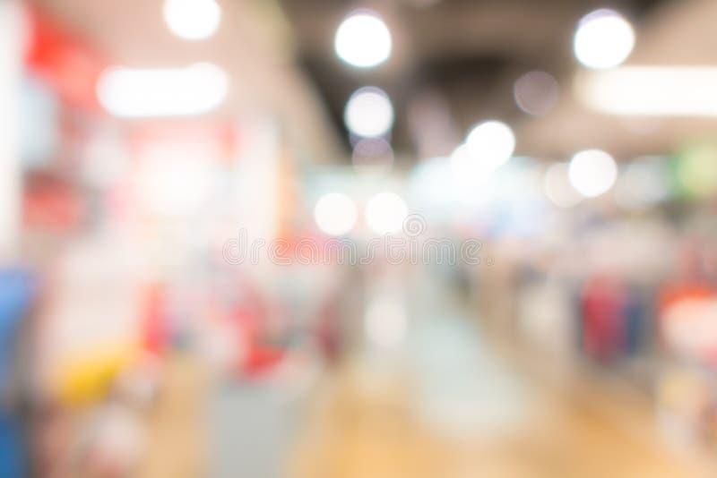 Abstracte onduidelijk beeldmensen in winkelcentrum royalty-vrije stock afbeelding