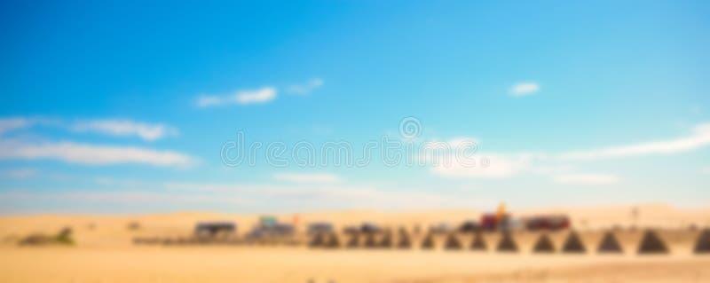 Abstracte onduidelijk beeldwoestijn royalty-vrije stock foto's