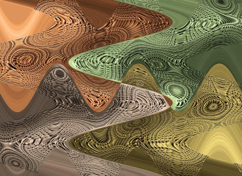 Abstracte onscherpe metaalachtergrond met koper, groen, gouden en bruin royalty-vrije illustratie